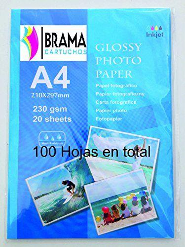 100 Hojas de Papel Fotográfico Glossy A4 de 230g Para Cualquier impresora de Inyección de tinta. Hp ,Brother, Epson,Canon, Apple etc Bramacartuchos http://www.amazon.es/dp/B0168RYMUW/ref=cm_sw_r_pi_dp_Z82owb06ASRN2
