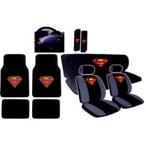 I Found 15pcs New Superman Car Seat Covers Set With Heavy Duty Carpet Floor Mats Shoulder Pads And Steering Wheel Cover On Wish Check It Out