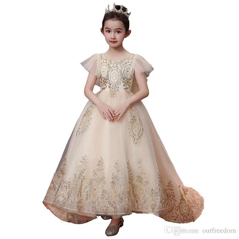 Https Www Dhgate Com Store Product 2020 Gorgeous Champagne Tulle Flower Girls 480883509 Html Flower Girl Dress Lace Flower Girl Dresses Ball Gowns,Altering Wedding Dress