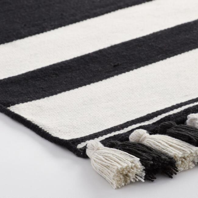 Stripe Woven Indoor Outdoor Rug