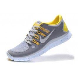 Nike Free 5.0+ Unisex Lysgrå Gul | Nike sko tilbud | billige Nike sko på nett | Nike sko nettbutikk norge | ovostore.com