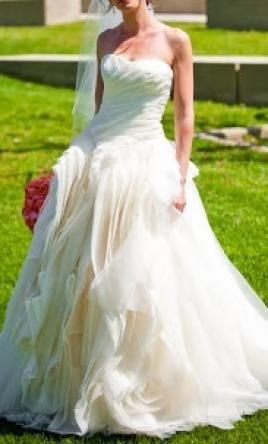 f16e3bb23506 Used Vera Wang Wedding Dress DIANA, Size 4 | Get a designer gown for  (much!) less on PreOwnedWeddingDresses.com