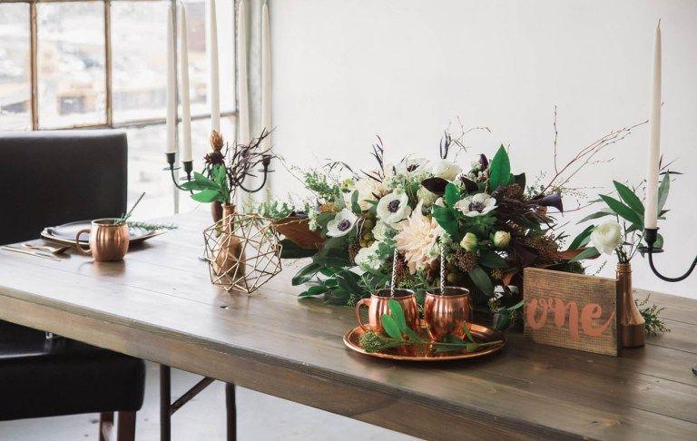 Industrial + Elegant Copper Wedding Inspiration | Green Wedding Shoes