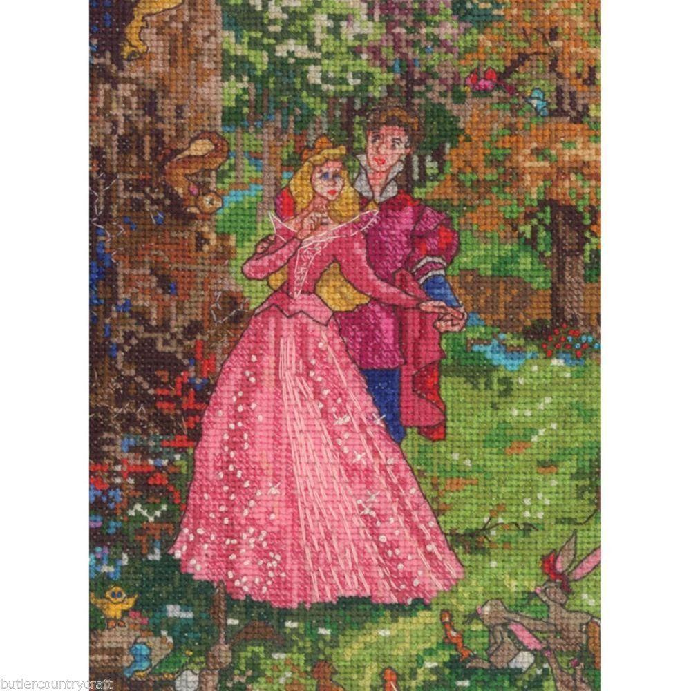 Sleeping Beauty Counted Cross Stitch Kit 65022 #Disney