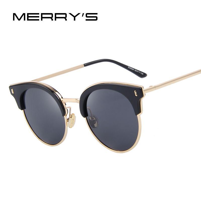 MERRY S Women Classic Sunglasses Vintage Brand Designer Sunglasses Luxury  Polarized Sun glasses S 8038 efe8d6c25