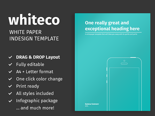 White Paper Template for InDesign on Behance – White Paper Template