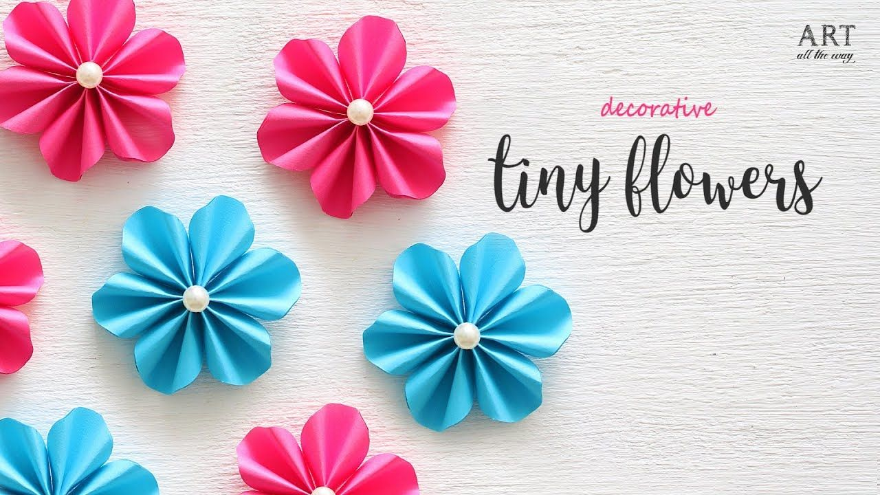 Diy Tiny Paper Flowers Flower Making Diy Flower Paper Flower Tutorial Paper Flowers Paper Flowers Diy