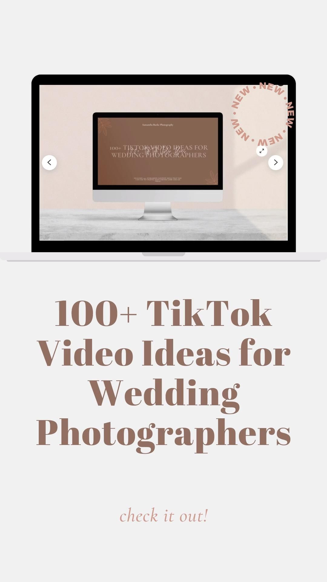 100 Tiktok Content Ideas For Wedding Photographers Video Video In 2021 Photographer Marketing Small Business Marketing Small Business Resources