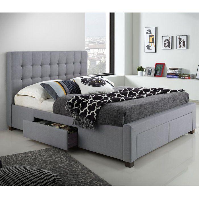 Metzinger Upholstered Storage Platform Bed Bed With Drawers