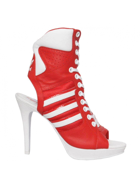 Adidas High Heels Red | Heels, Shoes, High heel sneakers