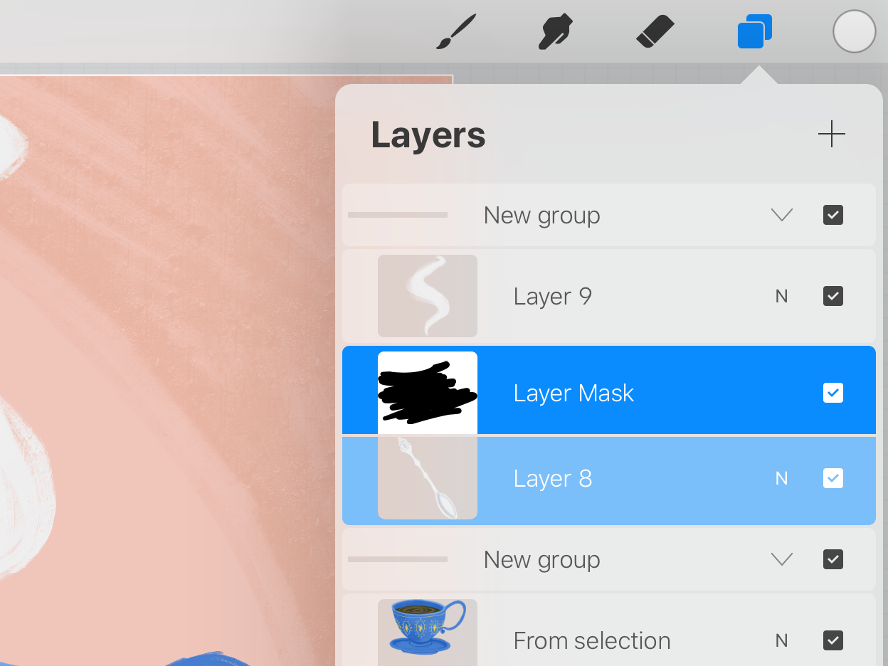 How To Animate In Procreate Create A Cute Gif Of A Tea Cup In 2020 Cute Gif Layer Mask Animation