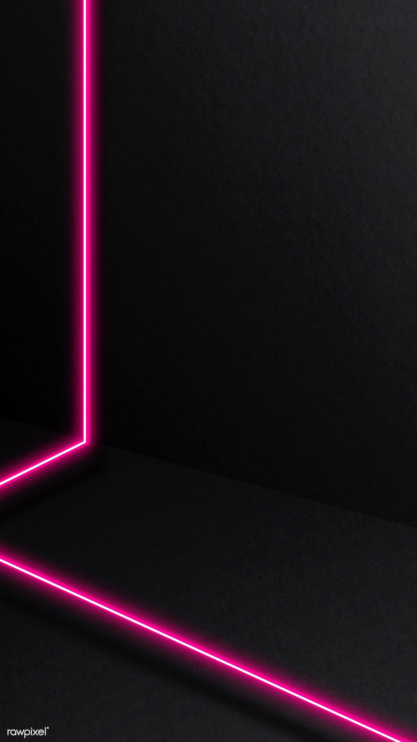 Download Premium Vector Of Pink Glowing Lines On Dark Background Vector Pink And Black Wallpaper Dark Backgrounds Black Wallpaper Iphone