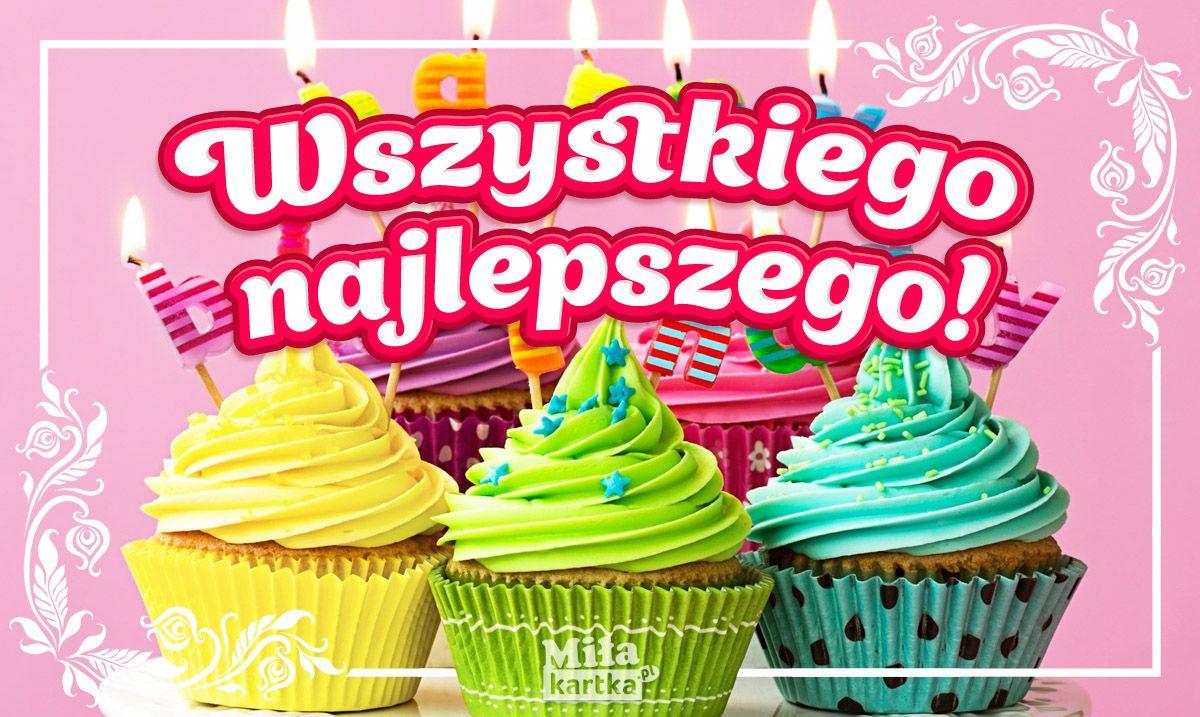 Kolorowe Zyczenia Dla Ciebie Kartki Urodzinowe Kartki