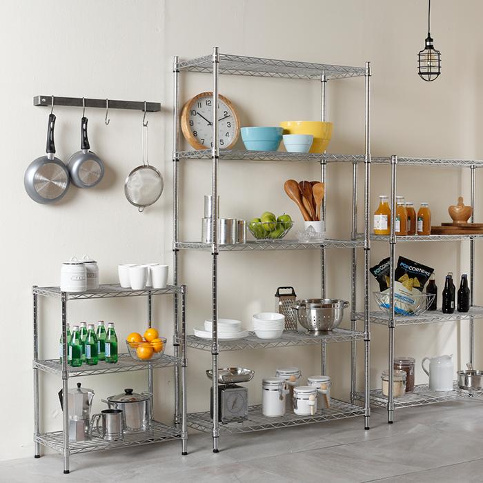 Organiza tu cocina con estantes met licos crea tus - Crea tu cocina online ...