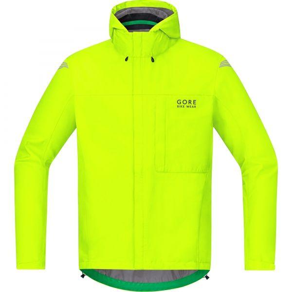 Jaune Fluo Gore Wear Veste Gore-TEX Paclite Jackets Homme FR