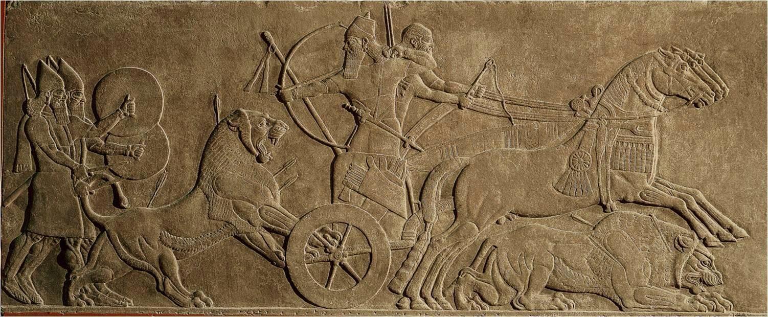 Assyrian Lion Hunt Assyrian Art Architecture Pinterest Lions