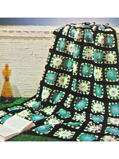 Crochet Afghans Granny Square Afghan Patterns Flower Square