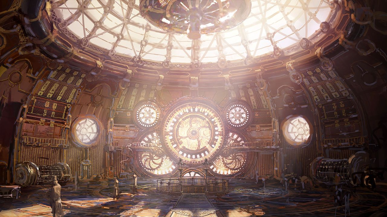 Steampunk environment concept art google Steampunk interior