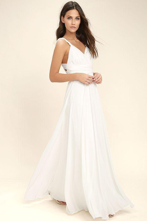 42e4987b72a4 CARTE BLANCHE WHITE MAXI DRESS LULUS