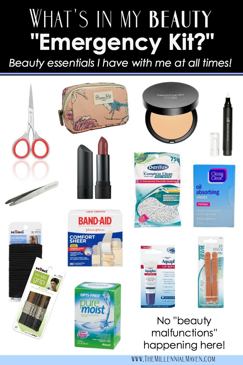 """Your Essential Beauty """"Emergency Kit"""" (Things you should"""