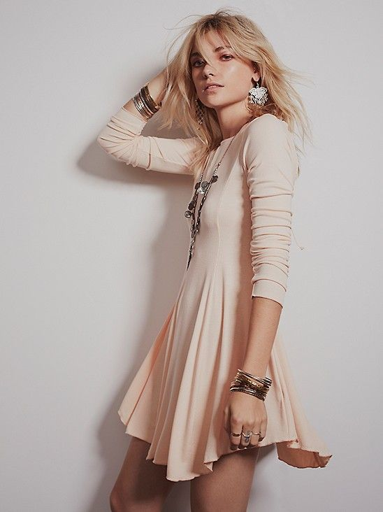 d9a6873bf1 FP Beach Ballet Fit and Flare at Free People Clothing Boutique. Lace Back  Pleated Pink DressFor Women-romwe. Peach. Peach Fit Flare Dress, Fit And  Flare, ...