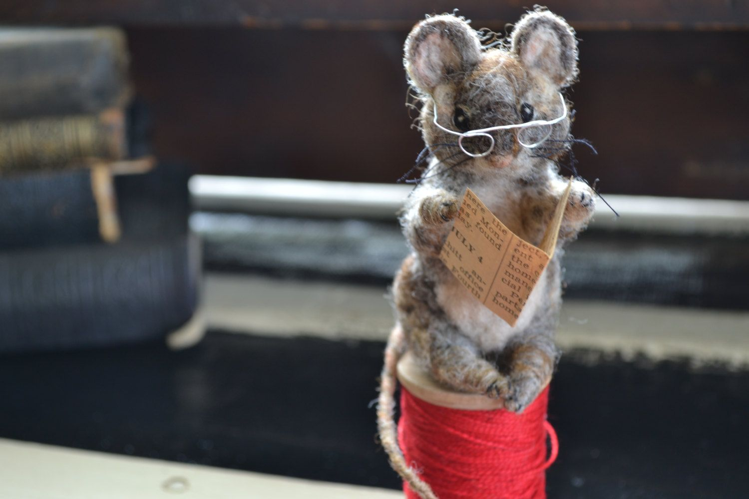 Tailor of Gloucester felted mouse