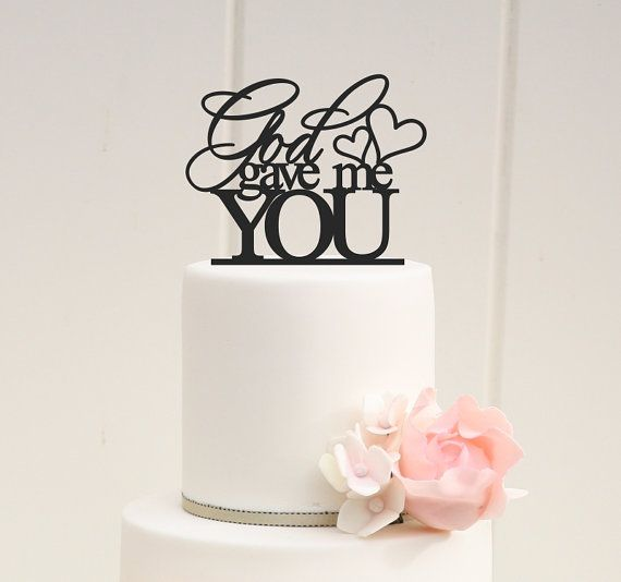 Famous Wedding Cakes With Cupcakes Huge Wedding Cake Pops Clean Disney Wedding Cake Toppers Peacock Wedding Cake Young Wedding Cakes Orlando YellowStar Wars Wedding Cake Toppers ORIGINAL GOD GAVE ME YOU WEDDING CAKE TOPPER PLEASE NOTE: We Love ..