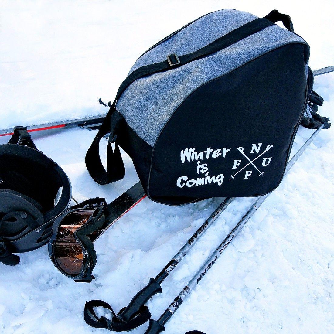 Pokrowiec Nuff Winter Is Comming Na Buty Narciarskie I Kask Szary Melanz Czarny Bags Winter Classic