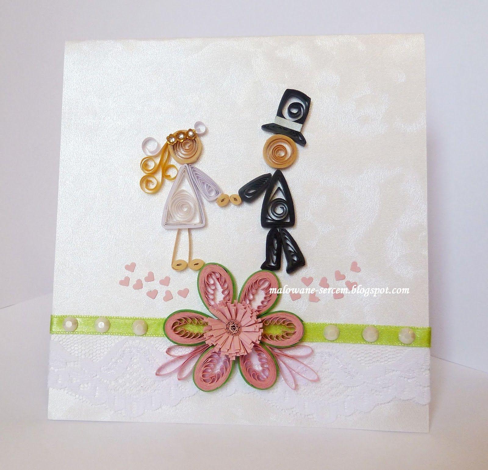 W dniu ślubu #WeddingDay #cards #quilling #paperfiligree