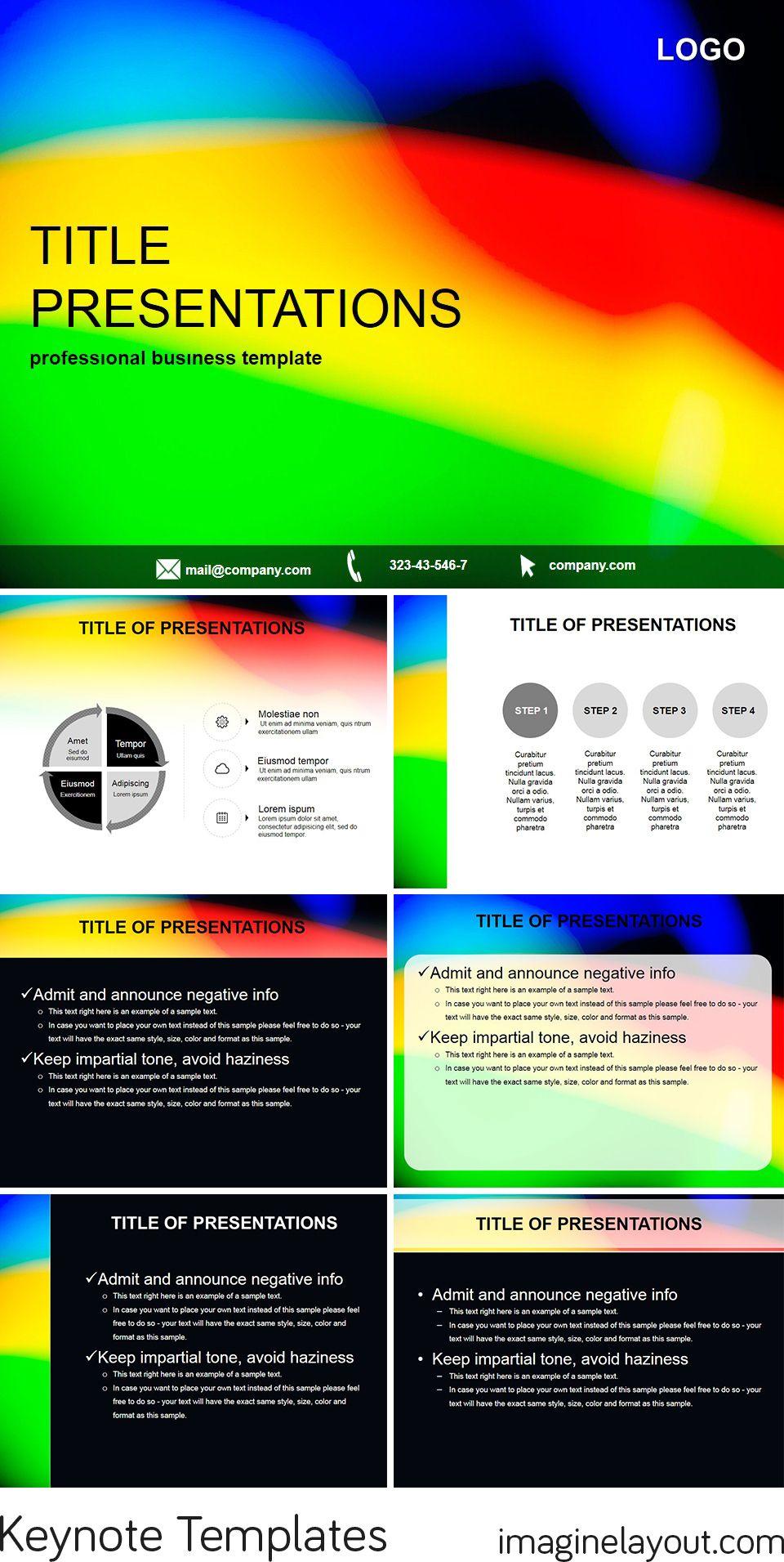 download three colors rainbow free keynote themes free keynote