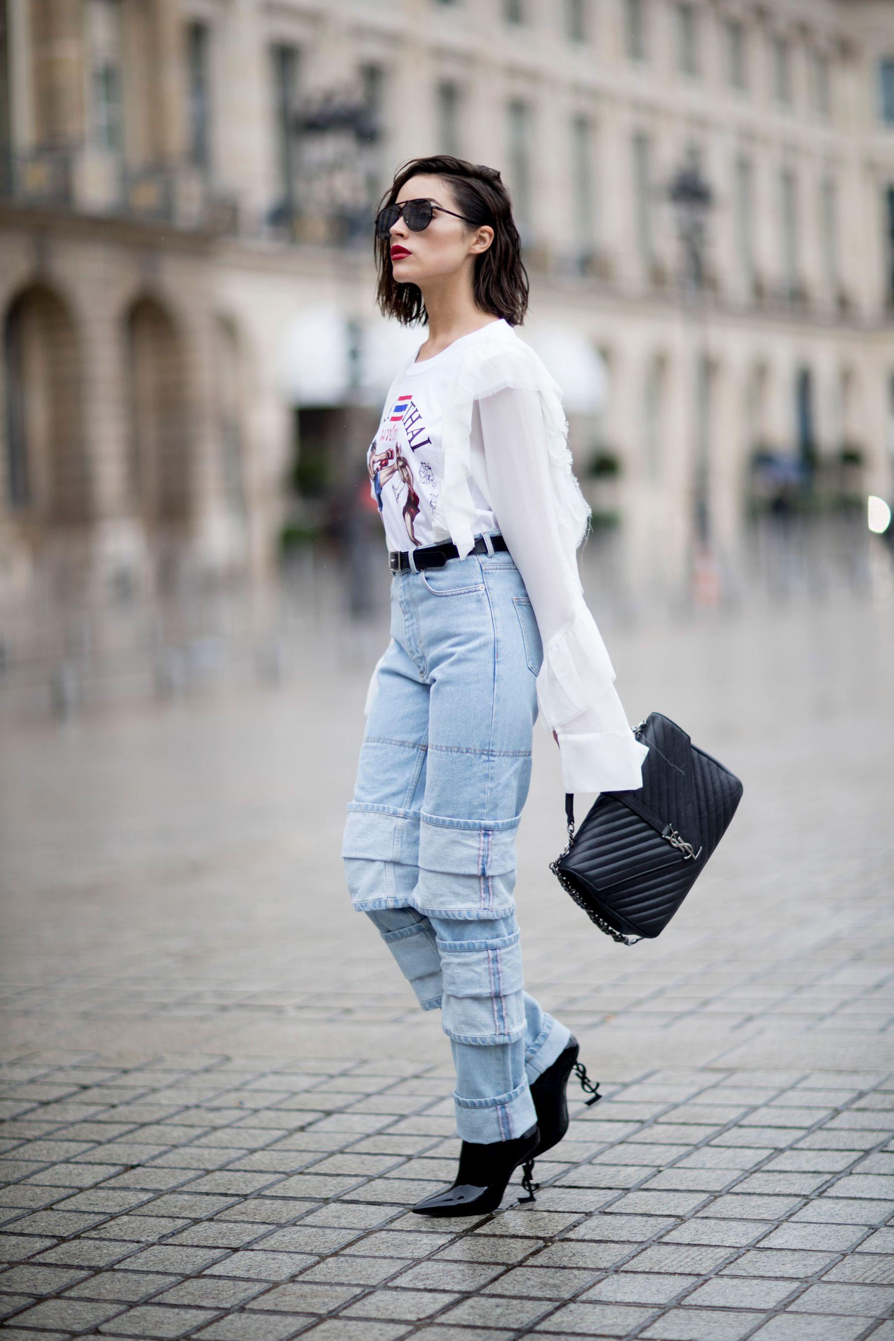 Paris Fashion Week Street Style Spring 2018 Day 6 The Impression Wardrobe Pinterest