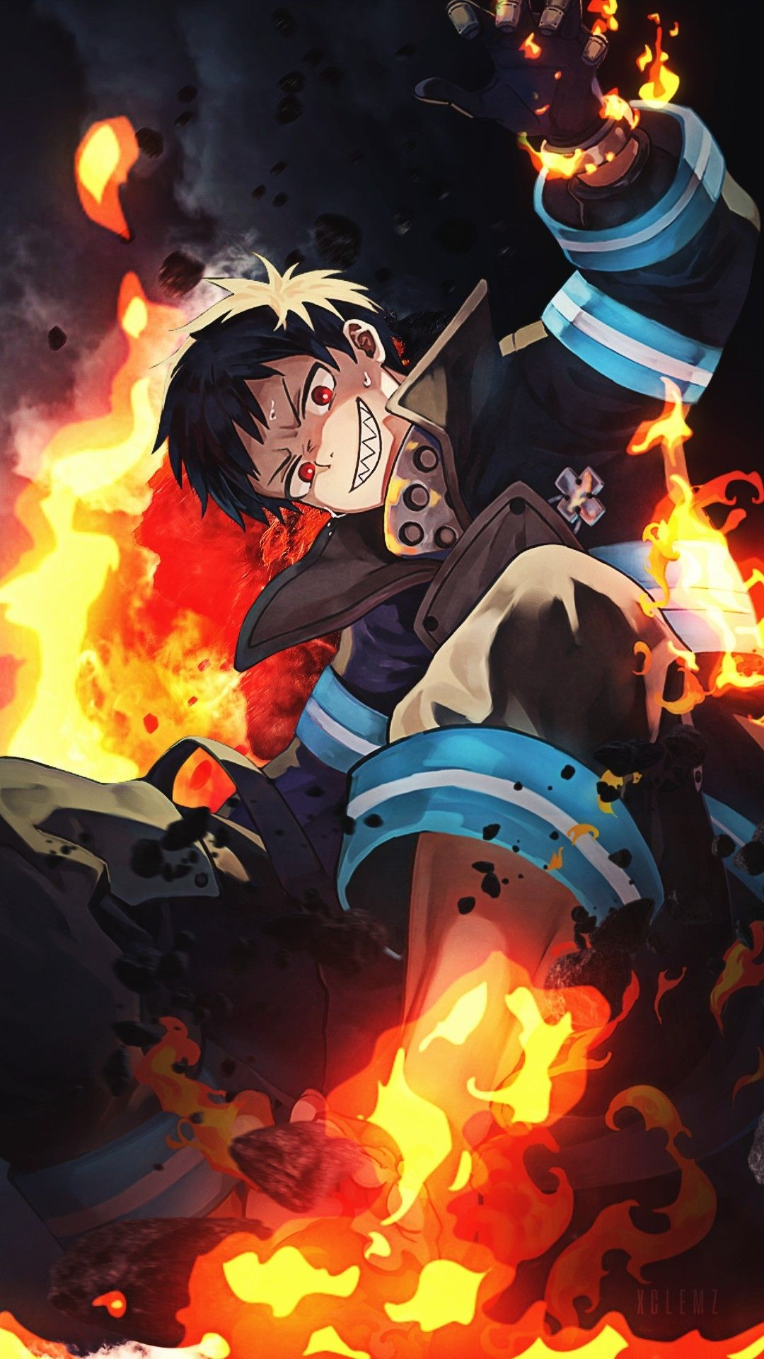 Fire Force Wallpaper Anime Wallpaper Anime Fantasy Character Design If you didn't know requests are open for wallpapers and i don't do just fire force but that's what i'm currently watching ^ pinterest