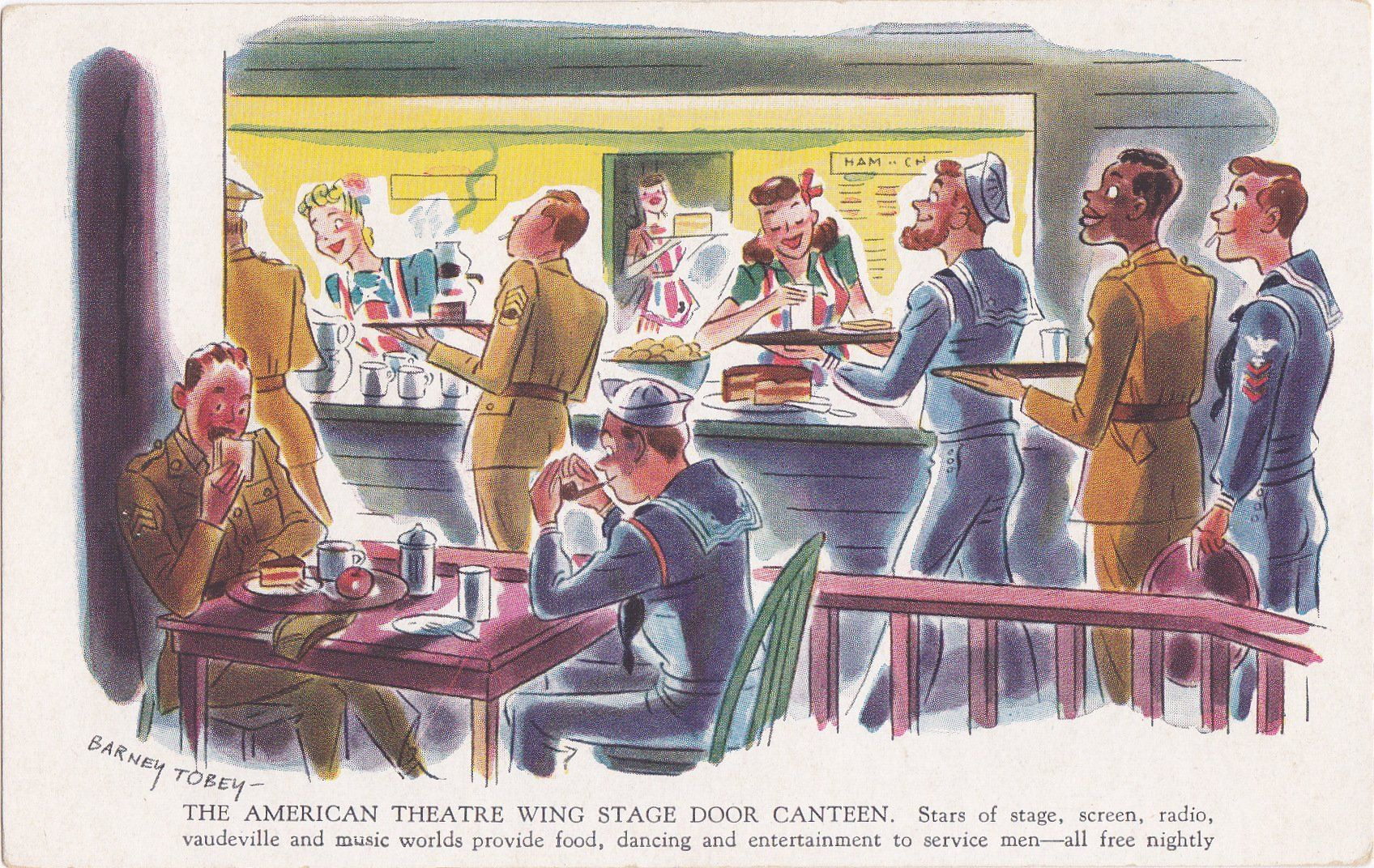 American Theatre Wing Stage Door Canteen Barney Tobey
