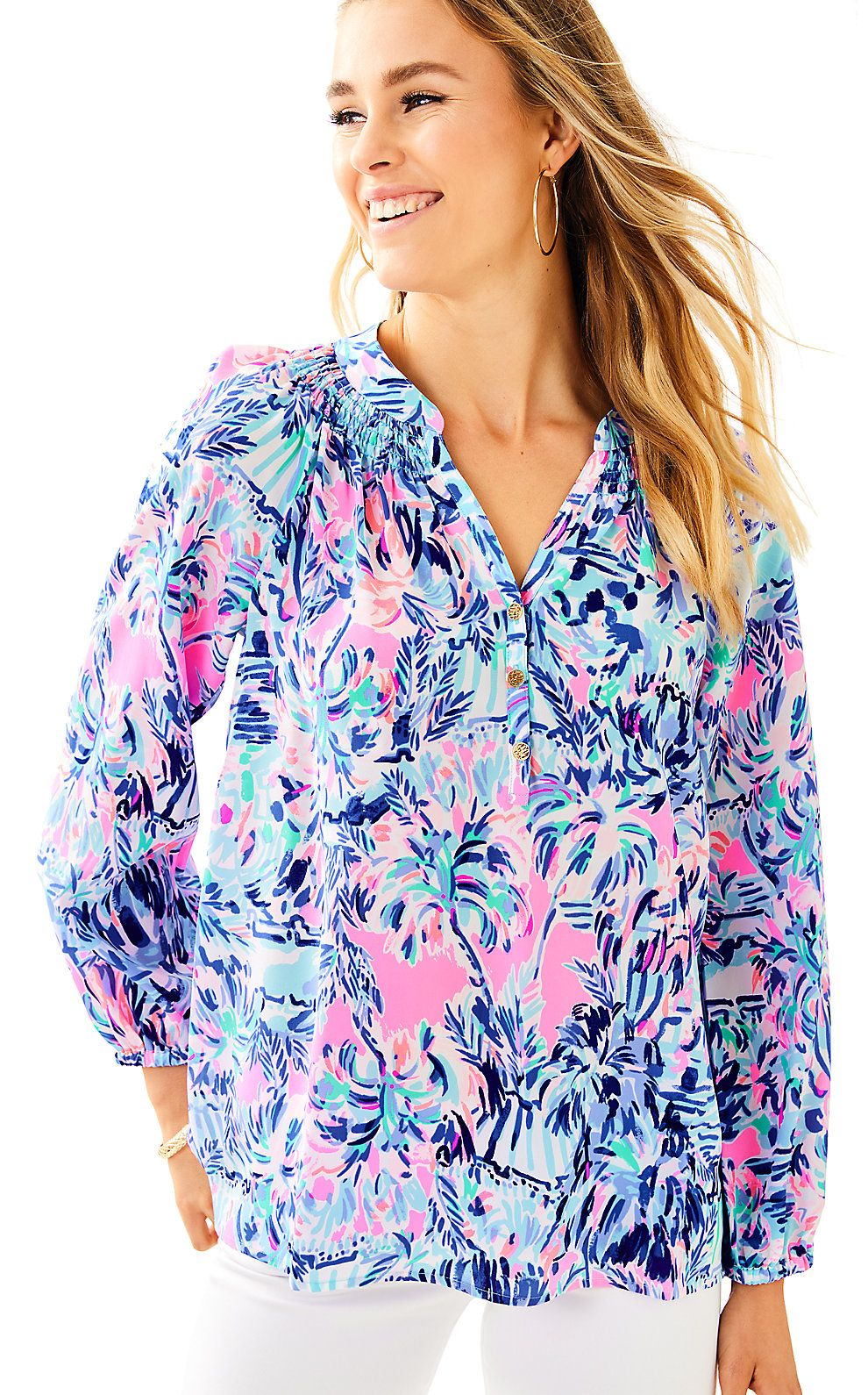 99b005559ff1ee Elsa Silk Top - Cabana Cocktail in 2019 | Lilly Pulitzer New ...