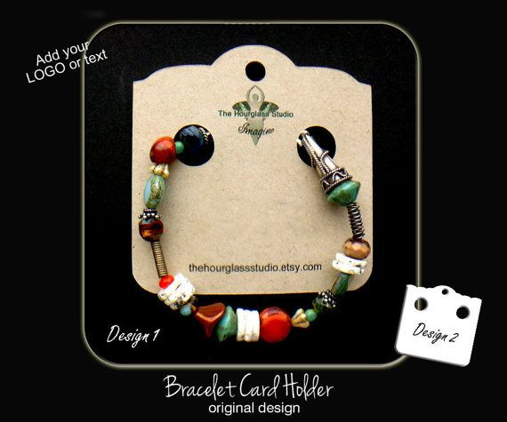 Custom Bracelet Display Cards 001custom By Thehourglstudio