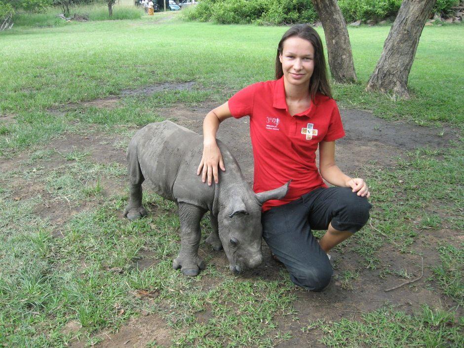 Natalia Różniewska, volunteer in RPA and future veterinary