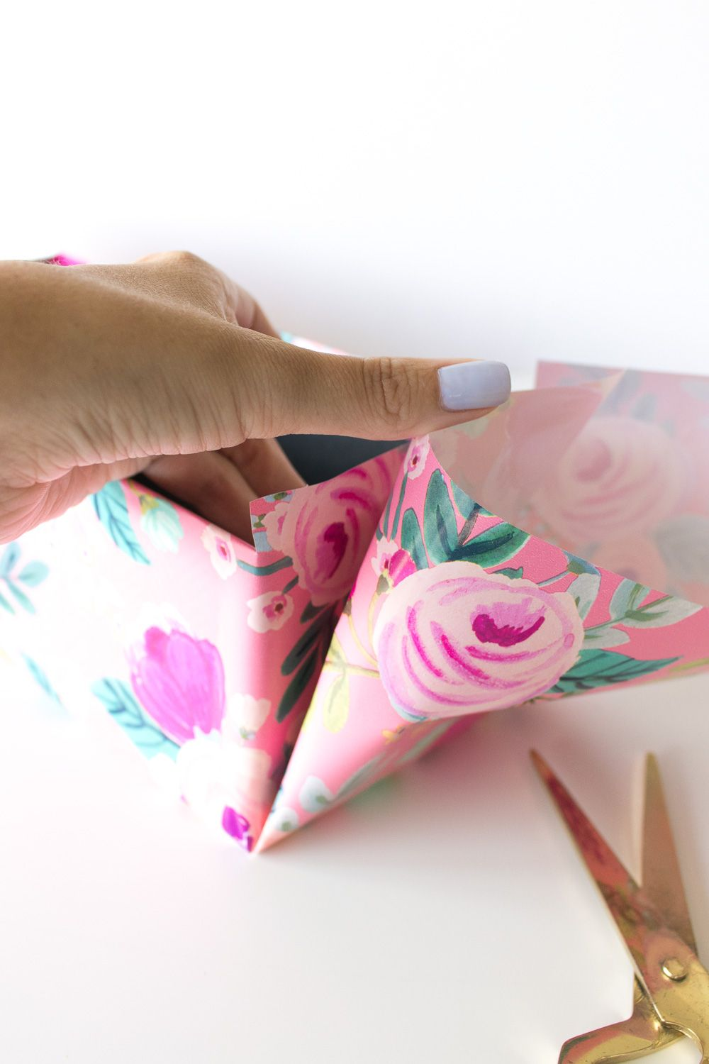 how to cover a box with wrapping paper
