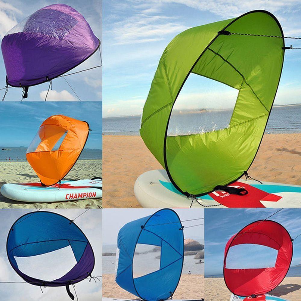 "Portable Kayak Boat Wind Sail Sup Paddle Board Sailing Windpaddle Foldable 42/"""