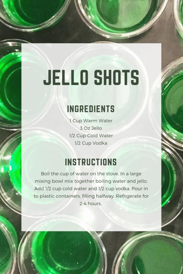 St. Patrick's Day Jello Shots - Binging on a Budget