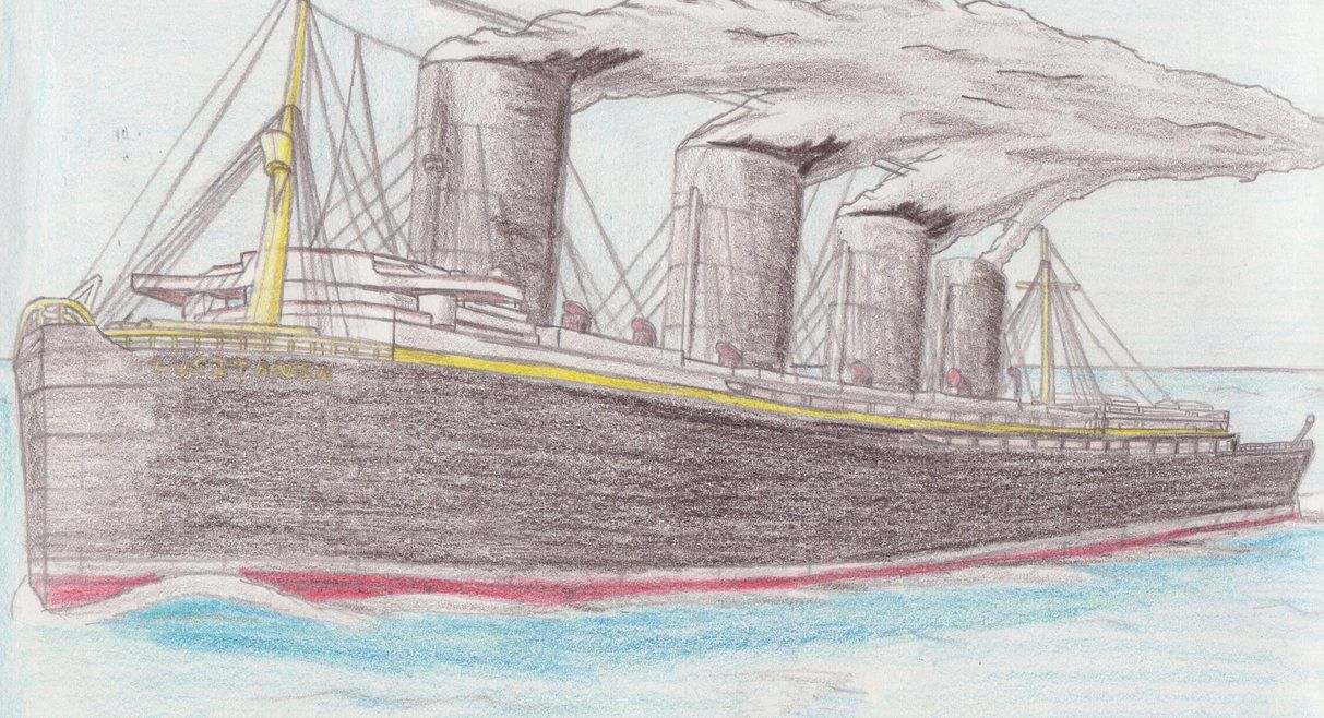 Rms lusitania wreck rms lusitania wreck quotes - Sinking Of The Lusitania Drawing Lusitania Draw Sinking