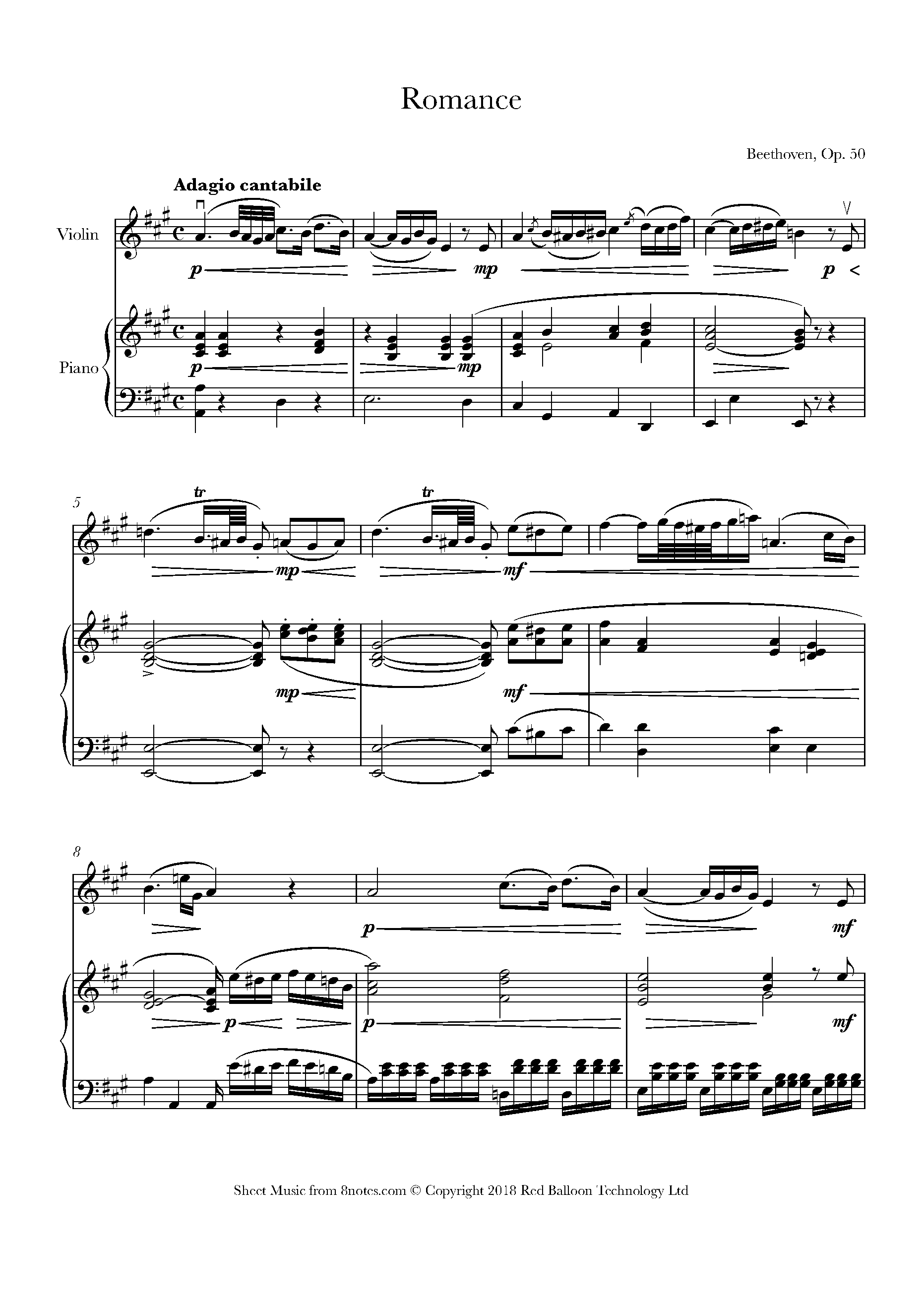 Romance for Violin /& Piano