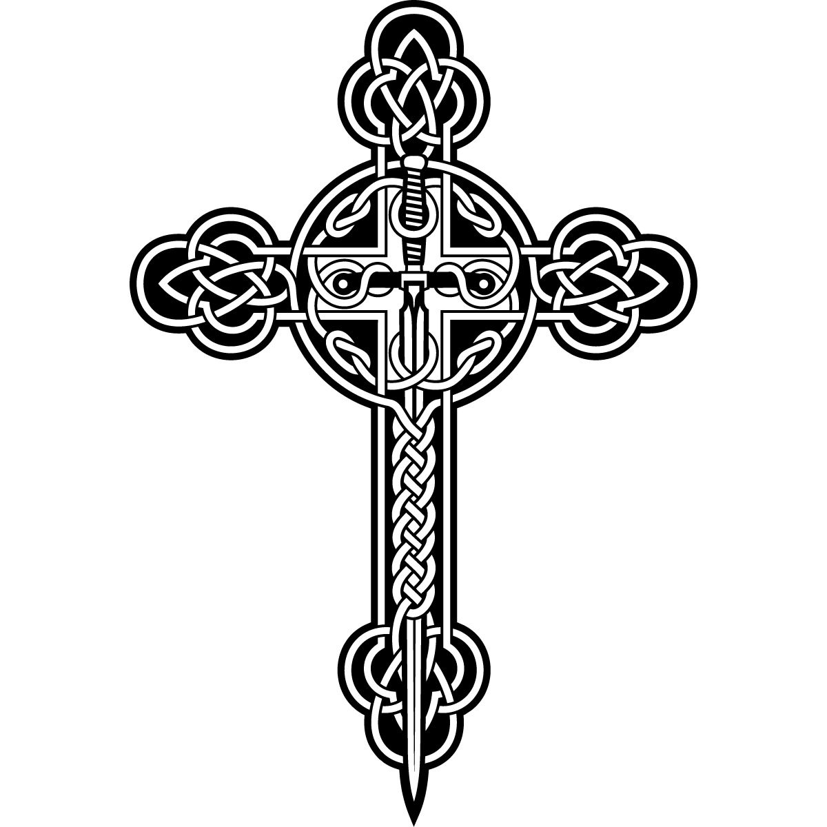 Celtic Cross Wall Art Sticker Wall Decals Transfers ...