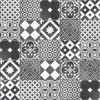 mosaque sol et mur gatsby dcor noir et blanc leroy merlin - Mosaique Sol Salle De Bain