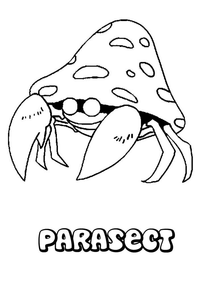 parasect pokemon coloring page more bug pokemon coloring pages om