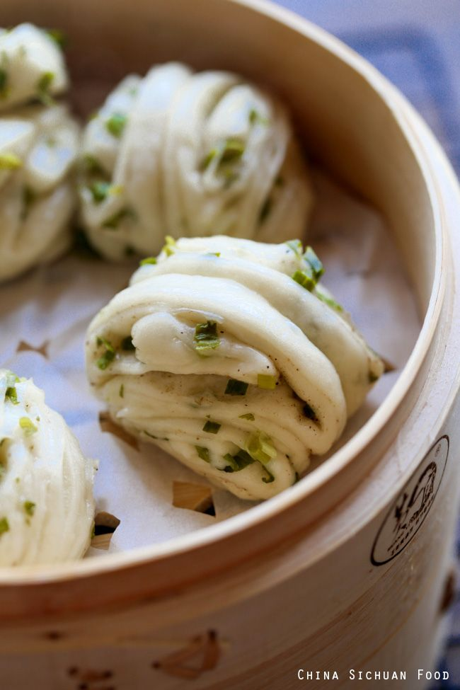 Steamed scallion buns hua juan recipe asian dim sum and food chinese recipes forumfinder Image collections