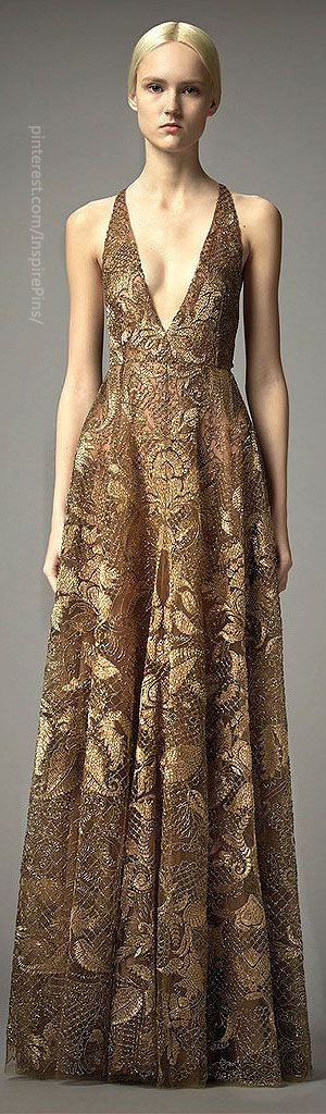 Pre-Fall 2014 Valentino gold gown