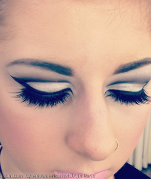 1960's style lashes and dramatic eyes by An American MUA in Paris - #vintage