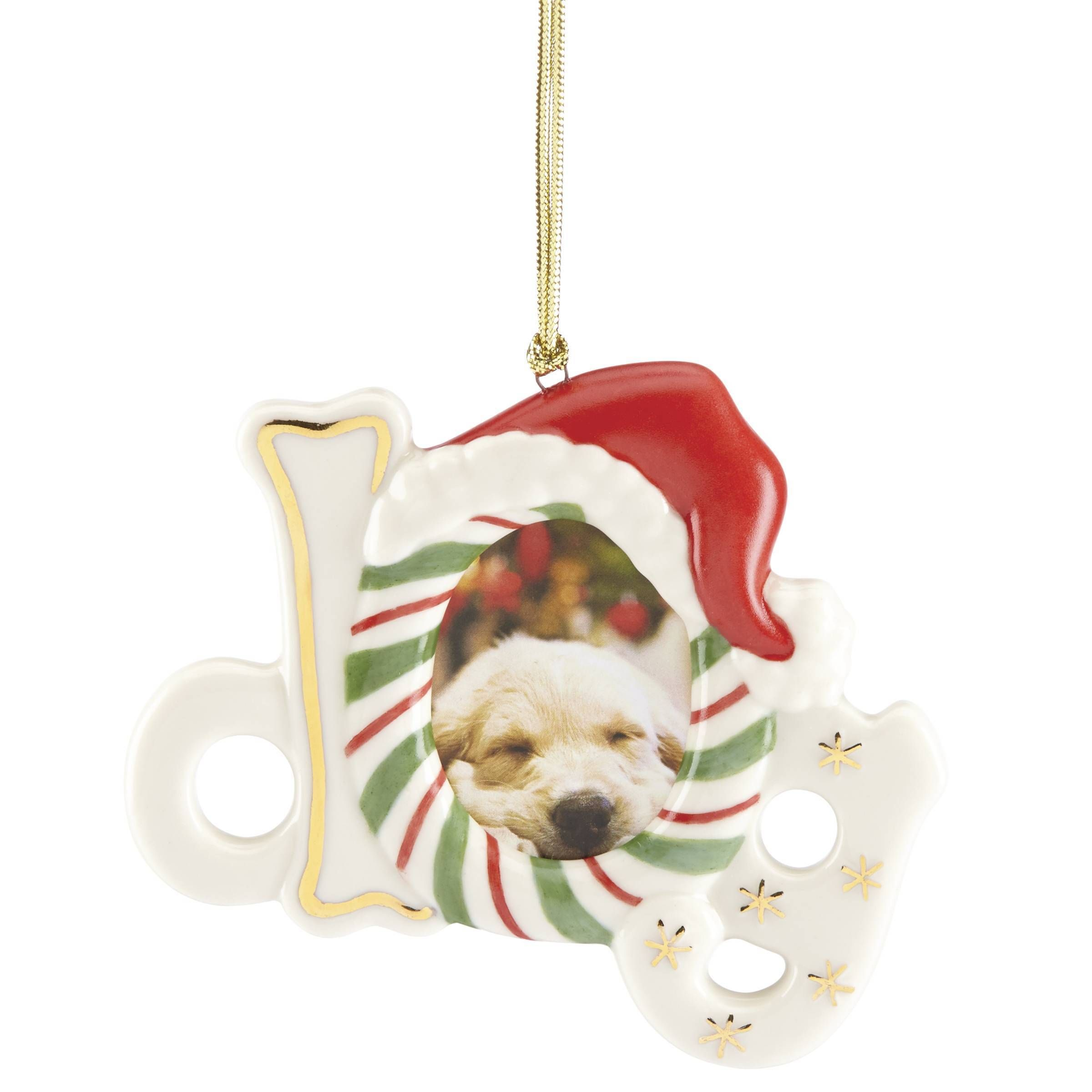 Lenox Furry Christmas Dog Frame Ornament