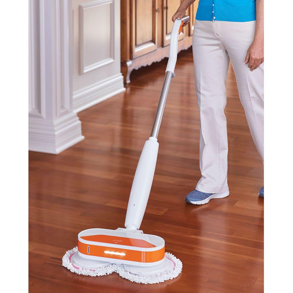 The Cordless Power Mop And Floor Polisher Hammacher Schlemmer Polish Floor Flooring Carpet Cleaners