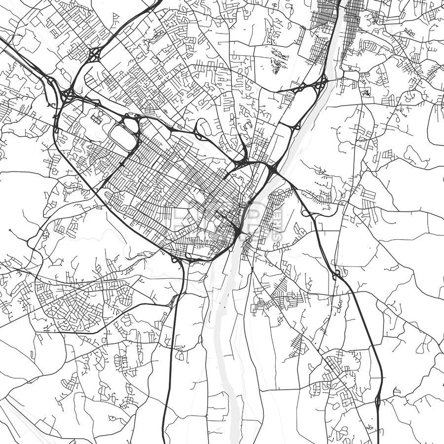 Albany New York Area Map Light Ui ux